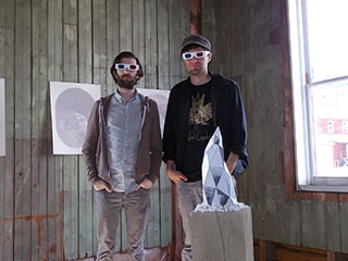 Paul Hammond and Seth Smith (YoRodeo) surrounded by their 3D Hidden Wonders exhibit