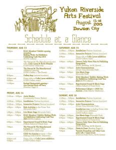 ARTS Fest Schedule at a Glance