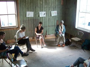 Participants ponder poetry at Claire Caldwell's Poetry Lab